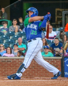 Chase Vallot, C, Lexington Legends, At The Plate