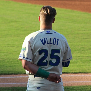 Chase  Vallot, C, Lexington Legends, During The Anthem