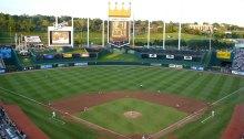A photo of Kauffman Stadium